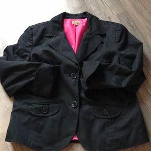 Double Button Black Blazer